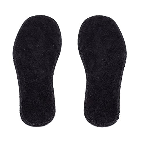 LAMBAA Natural Summer Black Terry Cloth Insoles, Soft, Flexible, Fresh Barefoot Terry Cotton Shoe Insoles (2 Pairs, 9 Women US) by LAMBAA (Image #2)