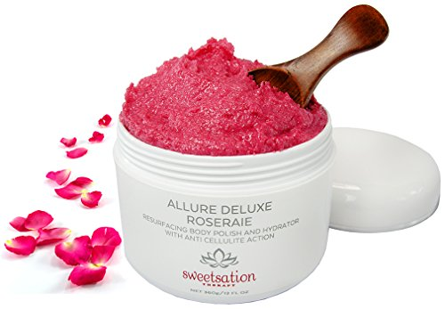 - Allure Deluxe Roseraie Best Resurfacing Body Polish and Hydrator, with Anti Cellulite action, 12 oz. Scrub and moisturizer in one. Infused with Rose and Vanilla.