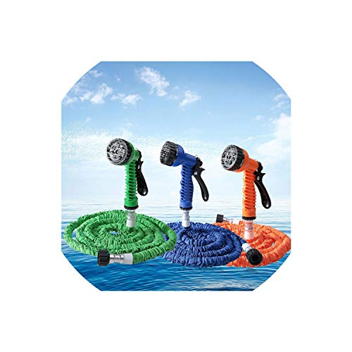 Wild-world 7 in 1 Spray Expandable Latex Tube Magic Flexible Hose for Garden Car Plastic Hoses,75ft,Green