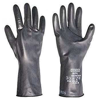 Butyl Rubber Gloves Chemical Reisistant 12 Per Box