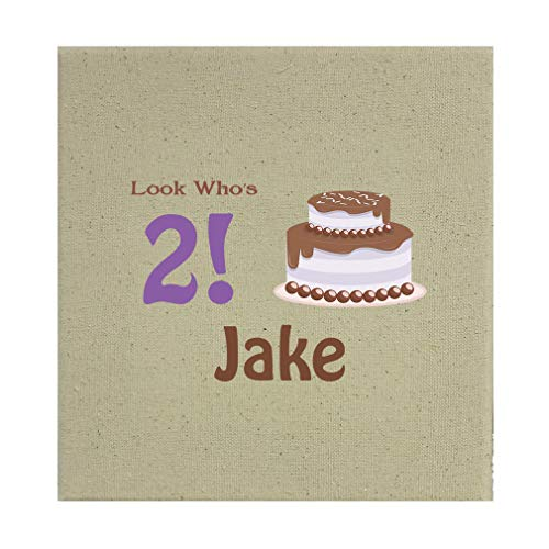 Style In Print Personalized Custom Text Birthday Chocolate Cake Cotton Canvas Stretched Natural Canvas Printed Canvas - 12