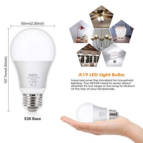 12pack A19 Led Light Bulbs 100 Watt Equivalent 5000k Daylight White No Flicker E26 Medium Screw Base Bulbs 1100lumens Non Dimmable Pricepulse