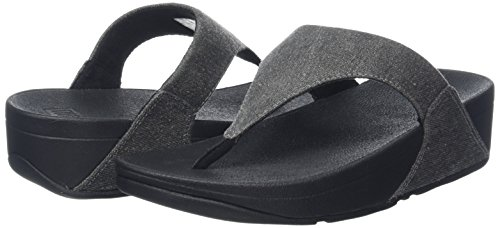 Toe Sandali Lulu Punta black denim thong Fitflop denim Black Aperta Donna shimmer Sandals Shimmer 5npqaWwYH