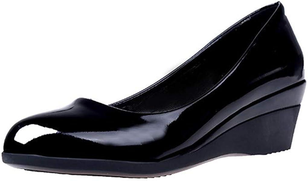 Mocasines para Mujer Mocasines Tacón Ancho Zapatos de Cordones Loafer Mocasines Plataforma Cuña Negros