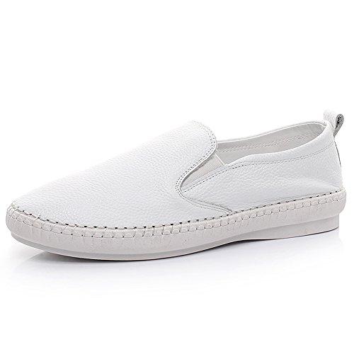 Rismart Girls Women Genuine Leather Slip On Loafer Flats ...