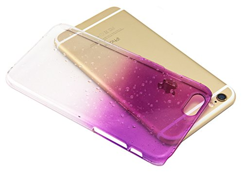 iPhone 6 Case, Techno Earth® Gradient Crystal Water Drop Back Protector Cover Air Cushion Technology Corners Eco-Friendly Packaging - Slim case for iPhone 6 (4.7) (2014) - Purple