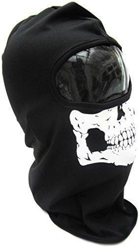 Voll Gesichtsmaske TOTENKOPF-SKELETT GATOR Voll Gesichtsmaske -Schädel Warrior, Unheimlich Gesichtsmaske Schädel Skelett Ski Motorradfahrer Paintball Maske Schal, Einheitsgröße, Kostüm, Halloween, Kostüm