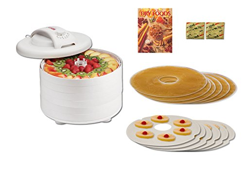 Nesco FD-60HW Snackmaster Express Bundle -Includes Accessories and How To Book (Open Country Dehydrator 500 Watt compare prices)