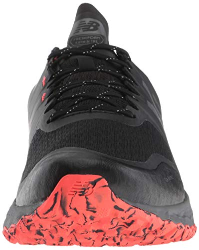 New Balance Men's Kaymin V1 Fresh Foam Trail Running Shoe, Black/Flame/Reflective, 7 D US by New Balance (Image #4)