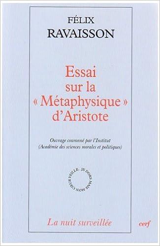 Lire un Essai sur la Métaphysique d'Aristote pdf