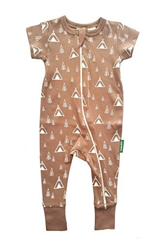 Parade Organics Signature \'2 Way\' Zipper Romper Short Sleeve