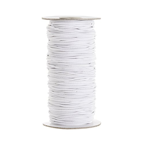 2mm Elastic Cord White yards