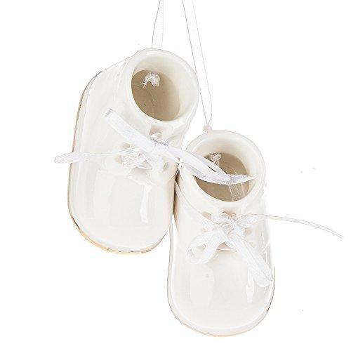 Midwest-CBK Baby Booties Ornament, Porcelain, (Porcelain Booties)