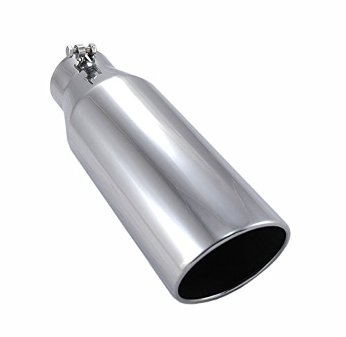 """Pypes Exhaust (EVT406-18) 4"""" In x 6"""" Out x 18"""" Long Polished Stainless Steel Bolt-On Exhaust Tip"""