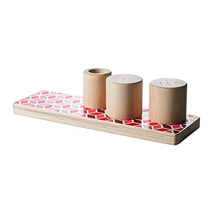 "IKEA madera-salero y pimentero ""Diseño estiloso"" salero Pimentero de madera palillos"