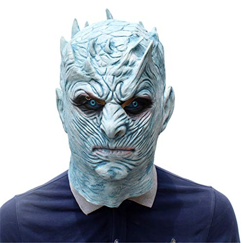 Halloween Novelty Mask Scary Halloween Costume Mask Cosplay Party Props Mask Creepy Latex Head Mask for Men (Night's King)]()
