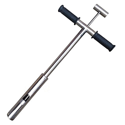 1.0m x 42mm 40x1.65 Soil Sampler with Foot Peg Soil Sampler Probe Tool with Sample Ejector