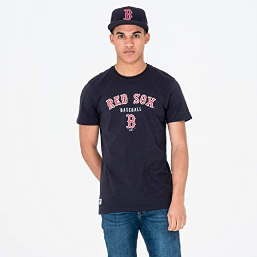 New Era Team Apparel Classic Tee BOSRED – Shirt Linie Boston Red Sox, Unisex Erwachsene, Blau (NVY)