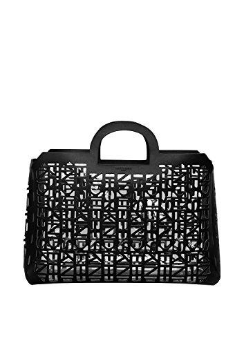 Liebeskind Berlin Damen Handtasche Ledertasche ShopperL 2D3D schwarz - 44x28x14cm (B x H x T) lRoqwSzN1