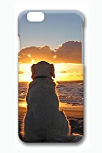 6 plus Case, iPhone 6 plus Case - Top Slim-Fit Cases for iPhone 6 plus Dog Watching Sundown Scratch-Resistant 3D Print Cases for iPhone 6 plus