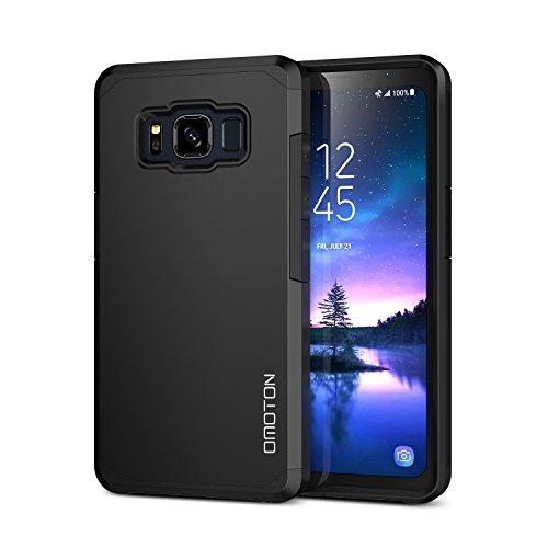 "OMOTON ""Galaxy S8 Active"" Case – Dual-Layer [Soft TPU Interior] [Durable PC Exterior] Case For ""Samsung Galaxy S8 Active"", Black"
