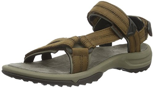 De W's Femme Marron Teva Brn Leather Sandales Lite Sport Terra Fi brown wZ6FY