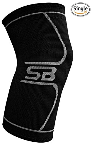 SB SOX Compression Knee Brace for Knee Pain - Braces and Supports Knee for Pain Relief, Meniscus Tear, Arthritis, Injury, Running, Joint Pain, & Support - BEST Knee Sleeve (Large)