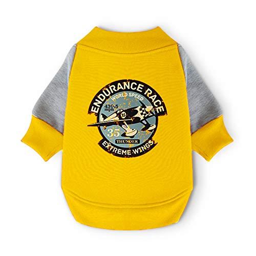 Pohshido Dog Winter Jacket Baseball Clothes for Dog, Boy/Girl Pet Coat Warm Shirt Fashion Style, Spring Autumn All-Weather Puppy Jacket Baseball Bomber Jacket Fighter Prints