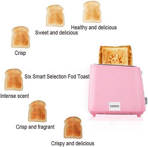 Roestvrijstalen elektrische broodrooster Huishoudelijke Automatische broodbakmachine Ontbijtmachine Toast Sandwich Grill Oven 2 Plakjes,Blue