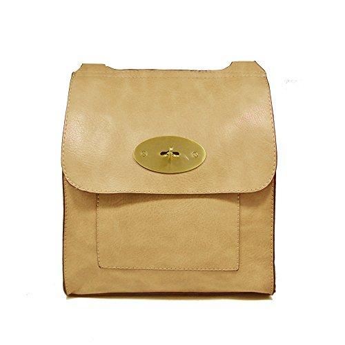 YDezire? Ladies Faux Leather Mini Cross Body Messenger Bag Women Shoulder Satchel Handbag Light Pink