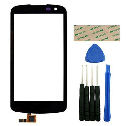 For LG K4 LTE 4.7'' Black Touch Screen Digitizer Outer Front Glass Replacement Repair Part