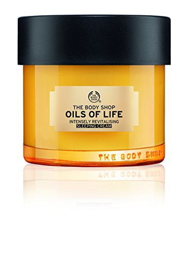 The Body Shop Oils Of Life Intensely Revitalising Sleeping Cream, 100% Vegan Night Cream, 2.7 - Shop Precious
