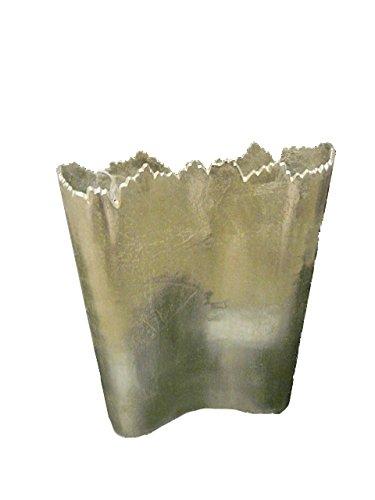 Gold Eagle USA Large Uneven Edge Rectangle Metal Vase, 14