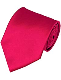 "Manzini Men's 3.5"" Solid Color Necktie - Fuschia"