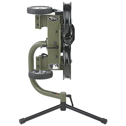 Atec M2 Softball Training Machine on Lowpod with Vertical Micro Adjuster