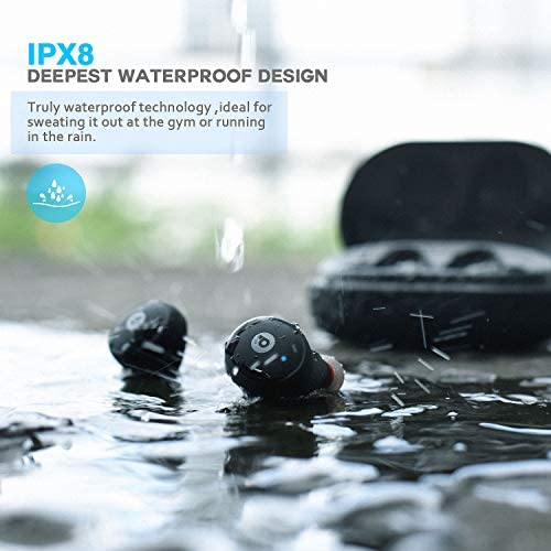 Wireless EarbudsDveda Bluetooth 50 Stereo Sound IPX8 Waterproof Wireless Headphones110H Playtime