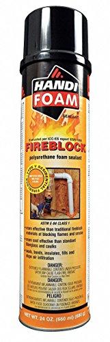 Fire Barrier Insulating Spray Foam Sealant, 24 oz. Aerosol Can, Orange by HANDI-FOAM