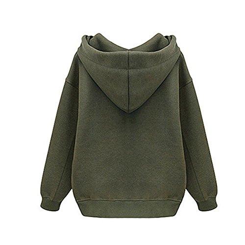 Verde Là Cappuccio Donna Vestmon Due Con Optionals Lunghe Maniche Colori Felpa BgBSvwxq