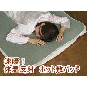 インテリア 寝具 便利 おしゃれ 速暖!体温反射ホット敷パッド セミダブルグレー B01HT33DD6