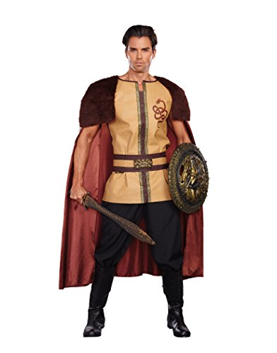 Dreamgirl Men's Voracious Viking Costume, Brown/Beige, XX-Large