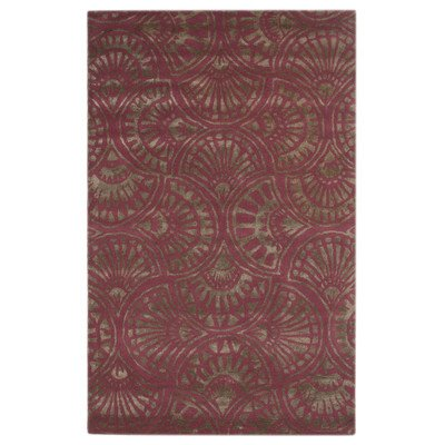 Jaipur Rugs Rectangle 2 by 3-Feet Tuff Viscose Mix Fan Dance Rug, Crushed Berry by Jaipur Rugs