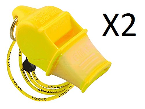 Fox 40 Sonic Blast CMG Whistle With Lanyard Referee Coach Do