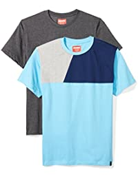 Men's 2-Pack Jersey Solid and Color Block T-Shirt