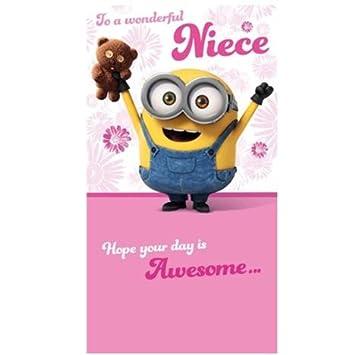 Special Niece Minions Birthday Card Amazon Toys Games