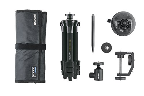 Cullmann 6-Piece Flexx Touring Set with Nanomax 200T Tripod, Suction Pod, Anodized Earth Spike by Cullmann
