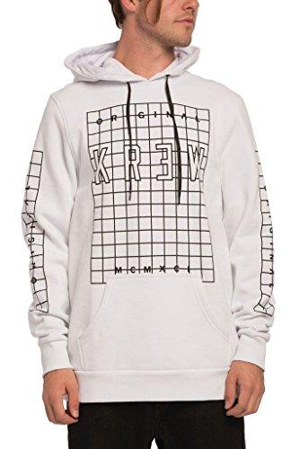 KR3W Locker Grid Pullover Hoodie Sweatshirt White Black Men's Large
