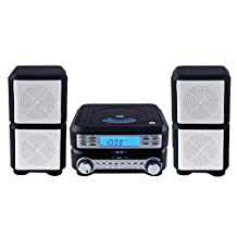 Sylvania Compact HI-FI CD Player Micro System with Stereo AM/FM Radio and Alarm Function (Black)