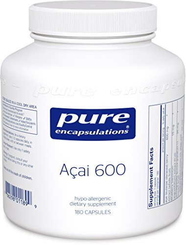 Pure Encapsulations - Acai 600 - Hypoallergenic Berry and Fruit Supplement for Antioxidant Protection* - 180 Capsules (Acai Supplements)