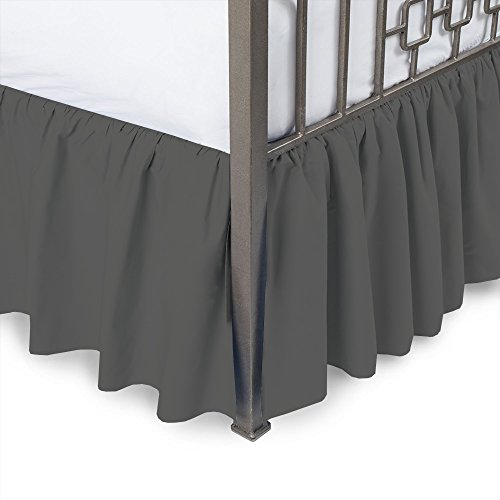 Whasmos Decor Linen Ruffled Bed Skirt 15