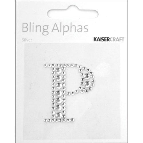 Kaiser Craft P Self-Adhesive Rhinestone Letter, Silver by Kaisercraft